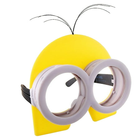 Minion Mask Goggles Sun Glasses Costume Novelty Sunstache Licensed Headpiece - Minion Mask