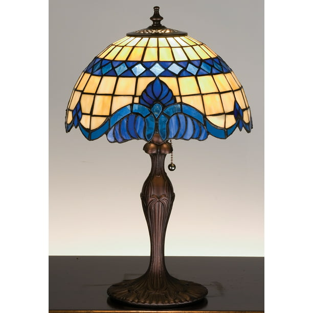 Meyda Tiffany 31201 Tiffany Glass Stained Glass / Tiffany Accent Table Lamp From The