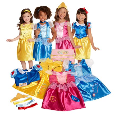 Disney Princess Dress Up Trunk Deluxe 21-Piece](Disney Dress Up Princess)