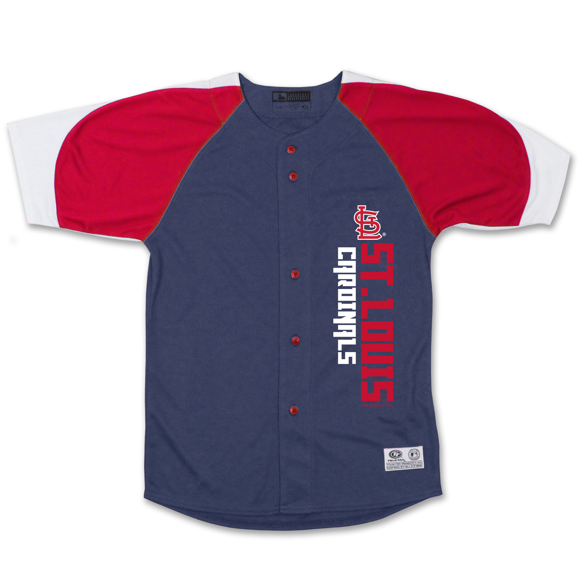 St. Louis Cardinals Stitches Youth Vertical Jersey - Navy/Red