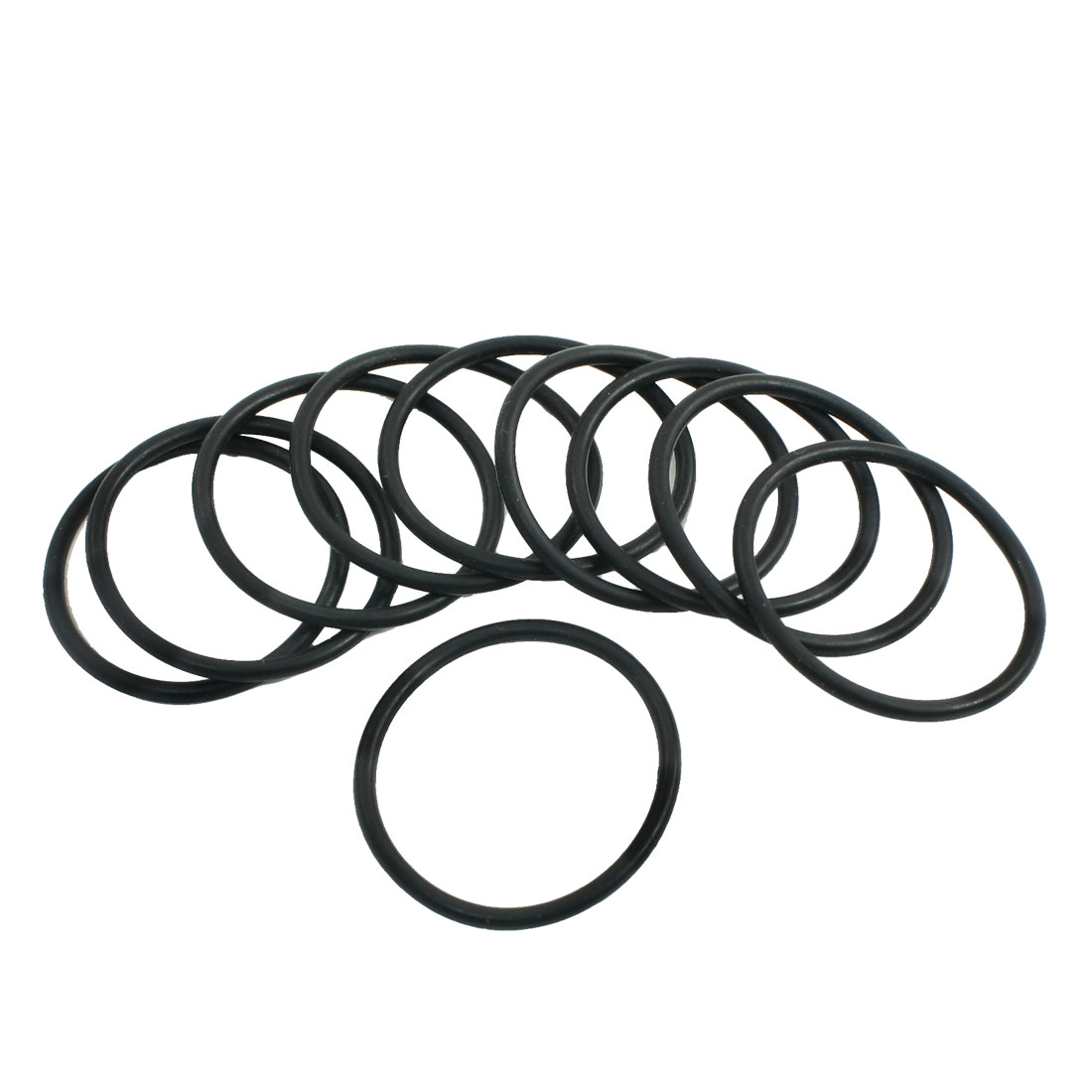 Unique Bargains 10pcs 36mm Outside Dia 2.4mm Thickness Rubber Oil Filter Seal Gaskets Black