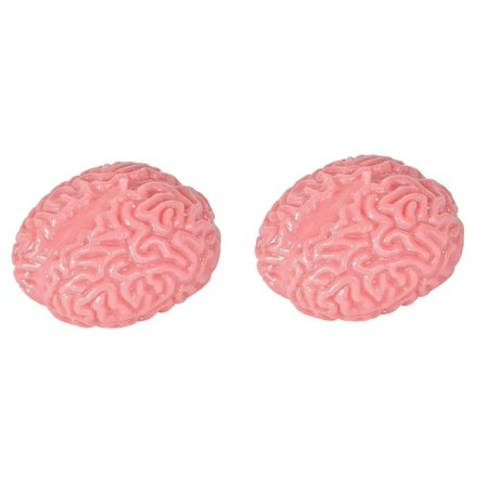 2 Count Squishy Sticky Rubber Gross Splat Brain Joke Prank Gag Gift Halloween Party