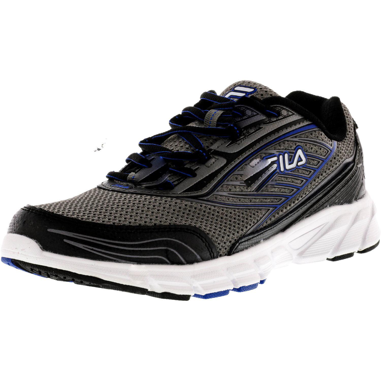 Fila Men's Forward 2 Black   Metallic Silver Ankle-High Running Shoe 11.5M by Fila
