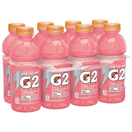 G2 Thirst Quencher Low Calorie Sports Drink, Raspberry Lemonade, 20 Fl Oz, 8 Count ()