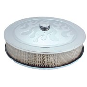 "Spectre Performance (4758) 14"" x 3"" Chrome Flamed Air Cleaner"