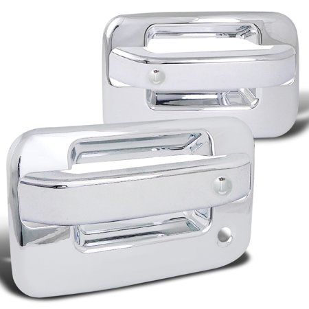 - Spec-D Tuning 2004-2012 Ford F150 2Dr Chrome Abs Door Handle Cover W/ Driver Side Key Hole 04 05 06 07 08 09 10 11 12