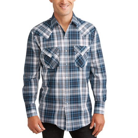Plains Big And Tall Men's Long Sleeve Plaid Western Shirt