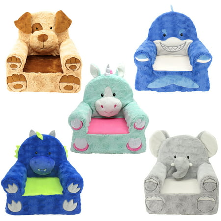 """Sweet Seats Adorable Teal Unicorn Children's Chair, Standard Size, Machine Washable Removable Cover, 13""""L x 18""""W x 19""""H"""