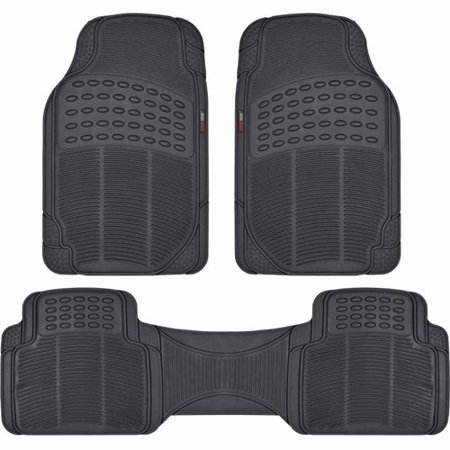 Motor trend 3 piece premium rubber floor mats heavy duty for Motor trend floor mats review