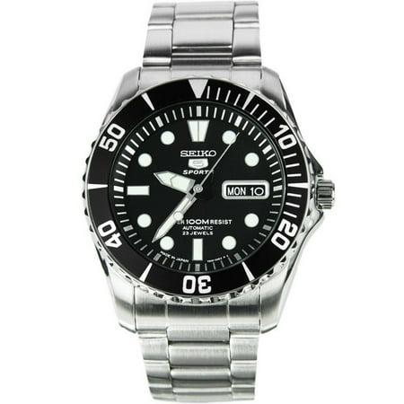 Bulova Self Winding Watch (SEIKO SNZF17J1,Men's Automatic Sports,Self Winding,Stainless Steel Case and bracelet,Screw Back,100m WR,SNZF17)
