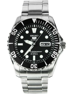 SEIKO SNZF17J1,Men's Automatic Sports,Self Winding,Stainless Steel Case and bracelet,Screw Back,100m WR,SNZF17