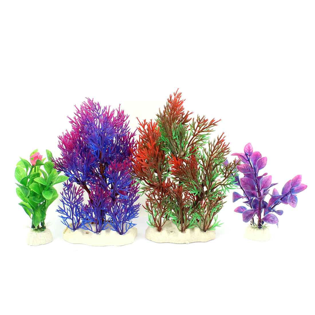 4pcs Artificial Simulation Aquarium Tank Grass Plants Landscape Decoration