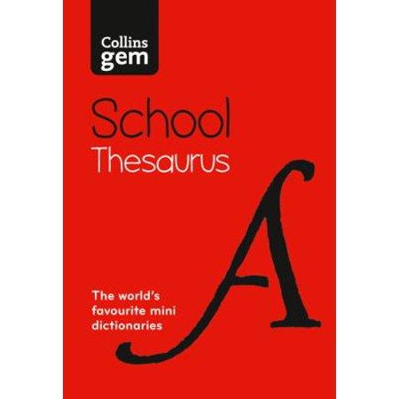 Collins Gem School Thesaurus  Collins School   Paperback