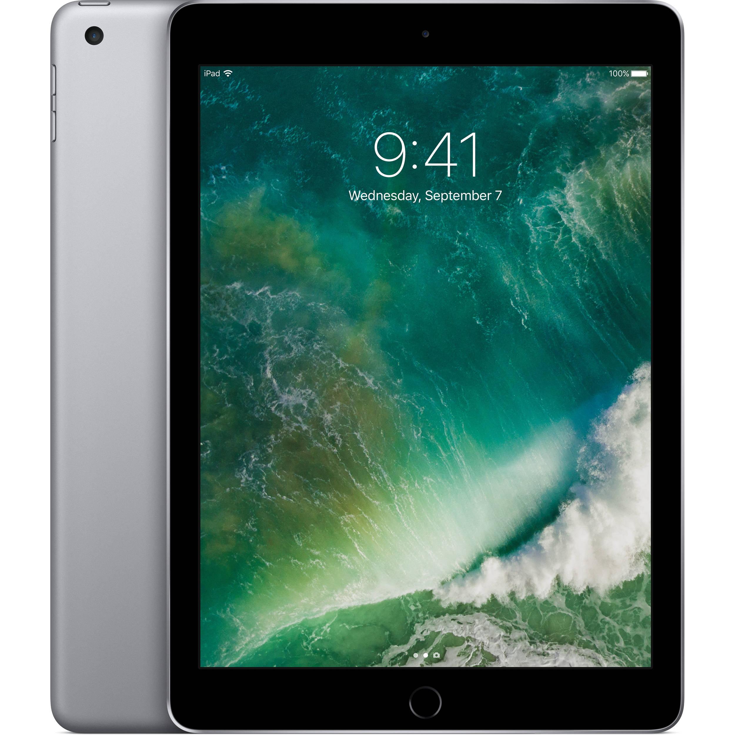 Certified Refurbished Apple iPad 2017 32GB Space Gray Wi-Fi MP2F2LL/A