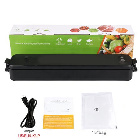 LP-11 Vacuum Sealer Machine Automatic Vacuum Sealing System for Dry Moist Foods Storage with 15 Sealer Bags (US Plug)