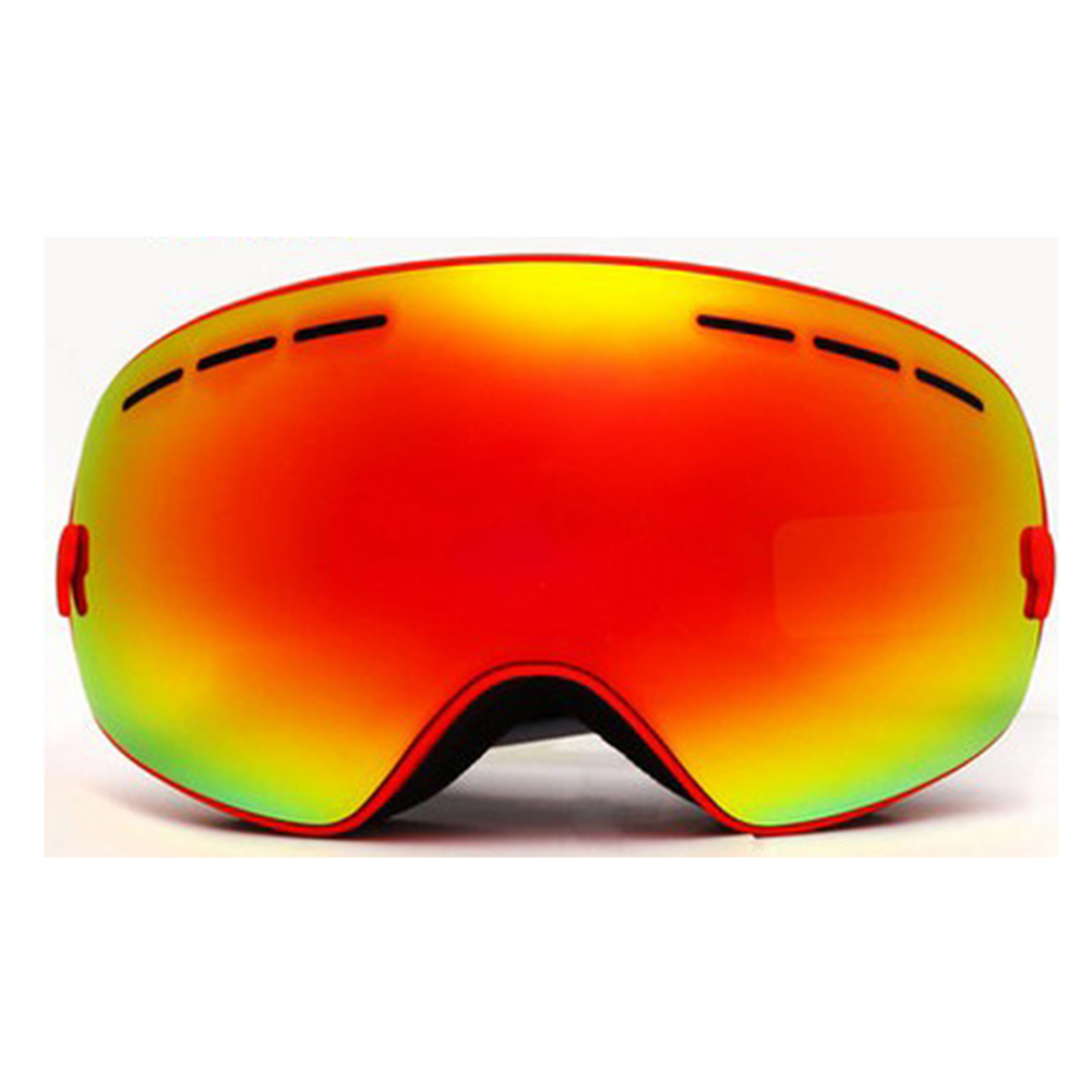 Outdoor Sports Skiing Goggles Windproof Anti-fog Snowmobile Bicycle Motorcycle UV Protection Glasses (Red) by