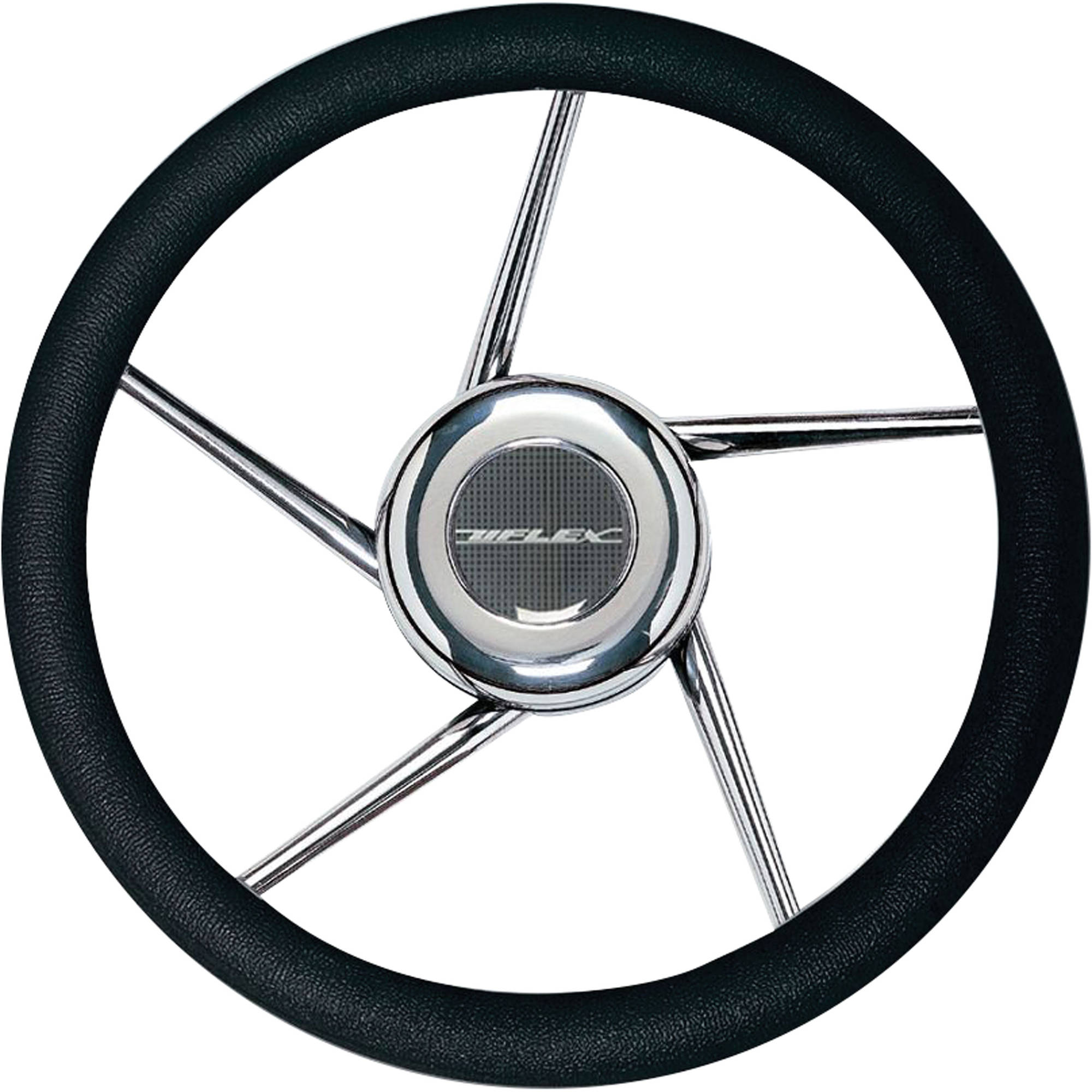 Uflex 41687Z V01 Non-Magnetic Stainless Steel Steering Wheel, Black