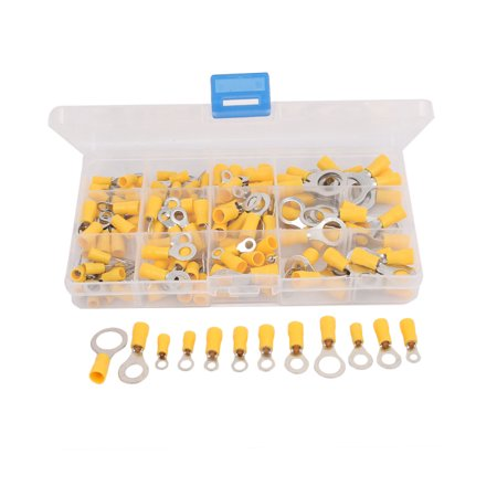 132 Pcs Insulated Ring Crimp Terminal Assorted Set Electrical Wiring Connector