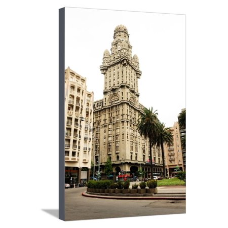 Salvo Palace Building, Art Deco, Montevideo, Uruguay, South America Stretched Canvas Print Wall Art By Pablo