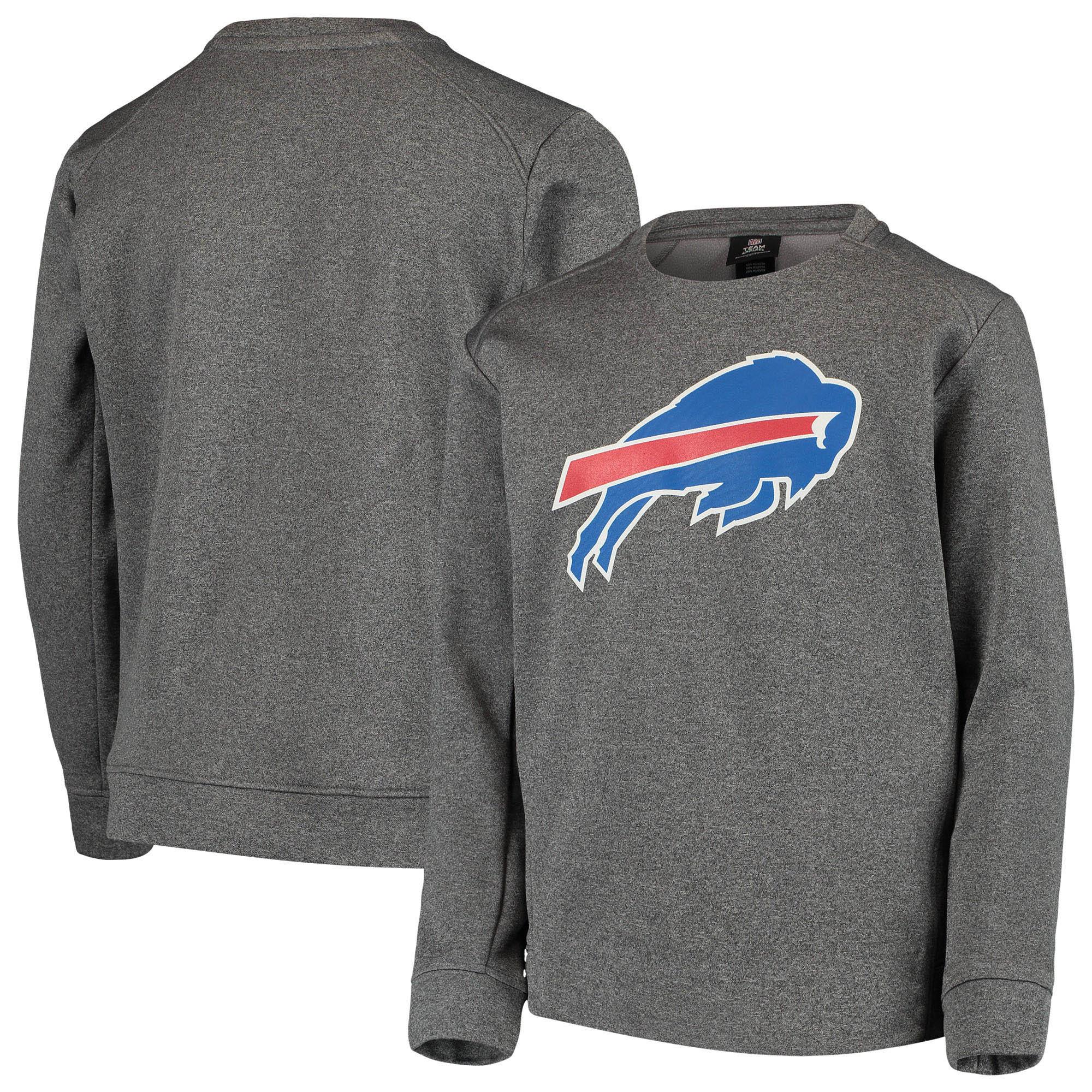 Buffalo Bills Nike Youth Fleece Crew Sweatshirt - Heathered Gray