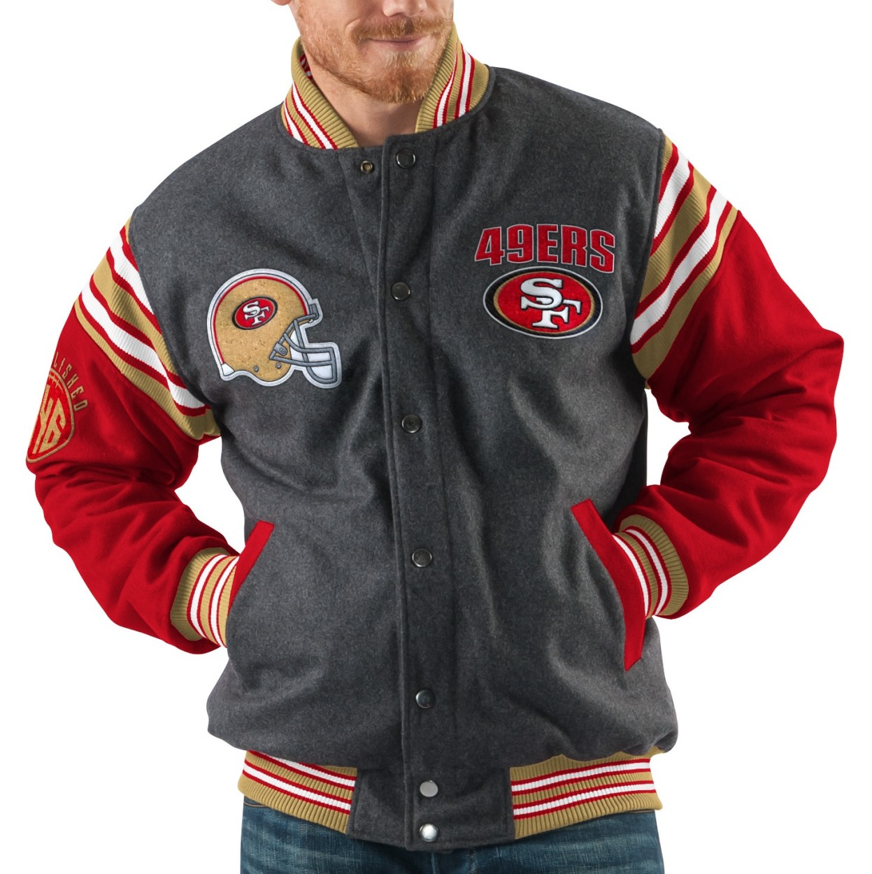 "San Francisco 49ers NFL Men's G-III ""Edge"" Reversible Wool Jacket by G-III Sports"