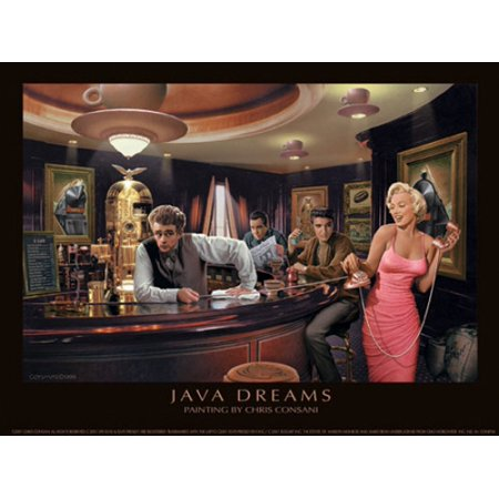 Java Dreams Poster Print By Chris Consani  14 X 11