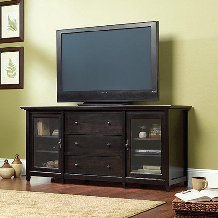 Sauder Edge Water TV Stand for TVs up to 70;, Estate Black