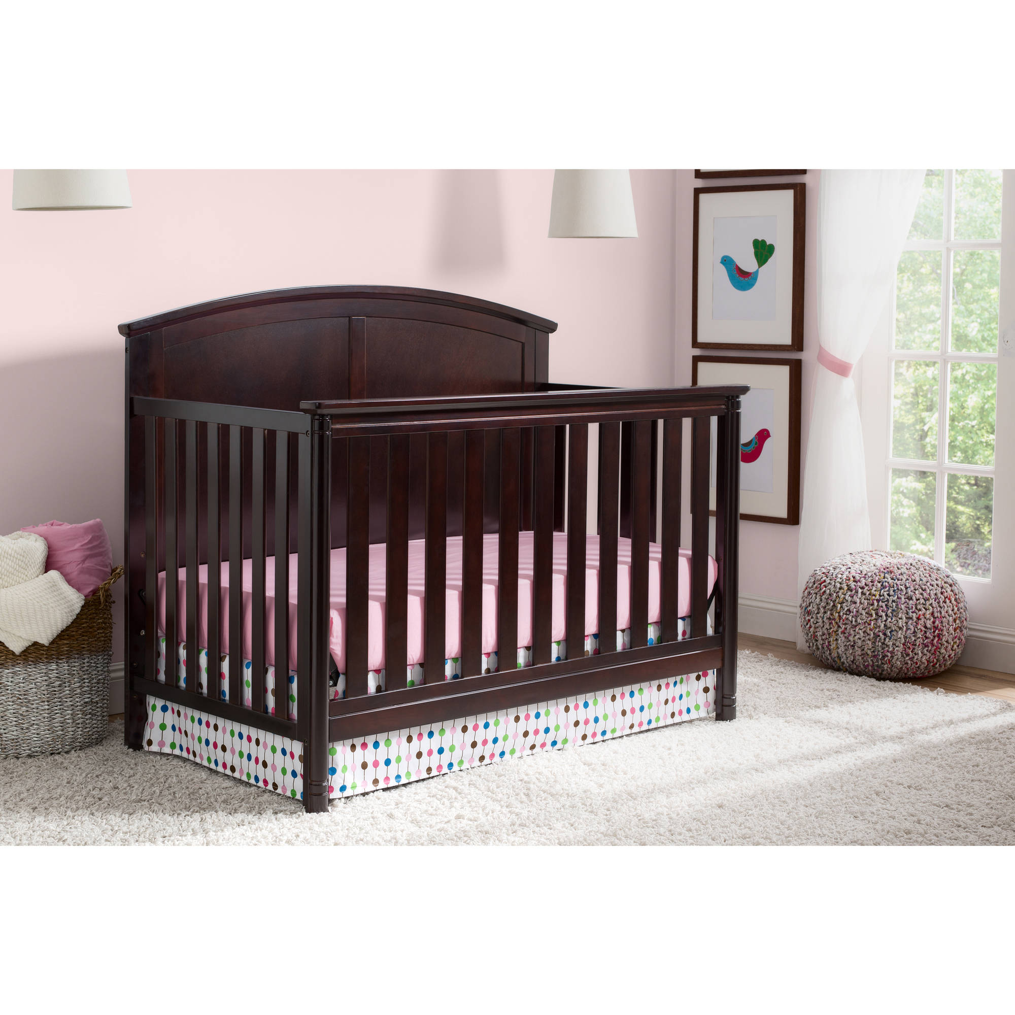 Delta Children Somerset 4-in-1 Crib, (Choose your Finish)