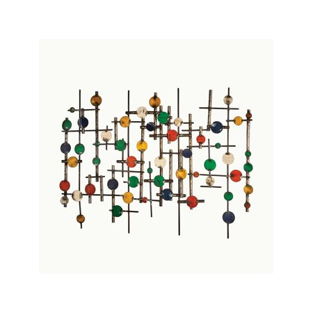 Art & Artifact Recycled Metal Abstract Wall Art Sculpture - Mid-Century Modern Retro