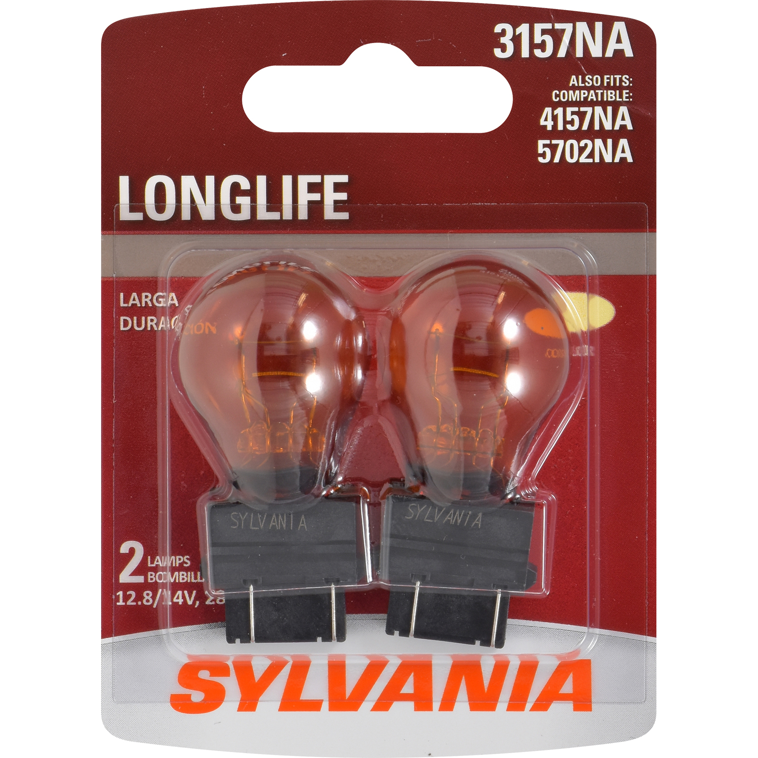 SYLVANIA 3157A Long Life Mini Bulb, Pack of 2