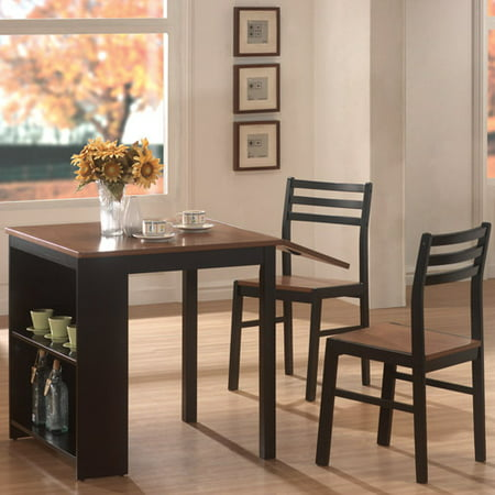 Coaster 3 Piece Breakfast Dining Set With Storage Chestnut Black