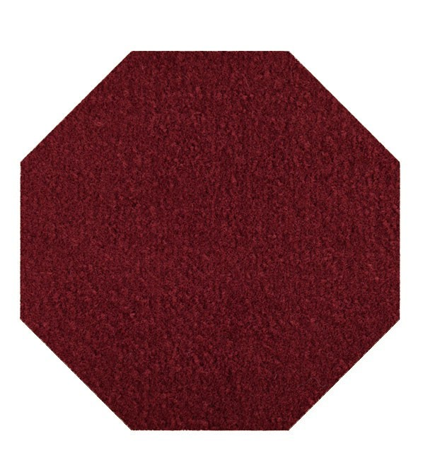 Galaxy way kids Favorite area rugs with Rubber Marine Backing for Patio, Porch, Deck, Boat, Basement or Garage with Premium Bound Polyester Edges Burgundy 12' Octagon