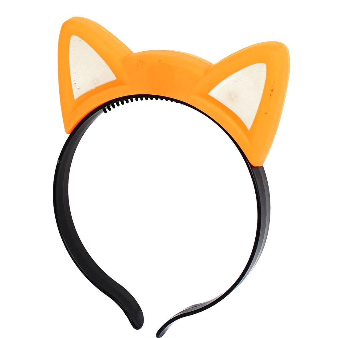 Cosplay Flash  Cat Ear Light Blinking Hair Band Hairband Headband Orange - image 3 de 3