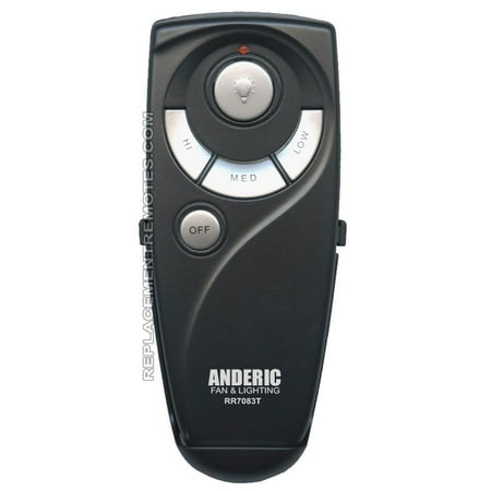 ANDERIC UC7083T for Hampton Bay (p/n: RR7083T) Ceiling Fan Remote Control