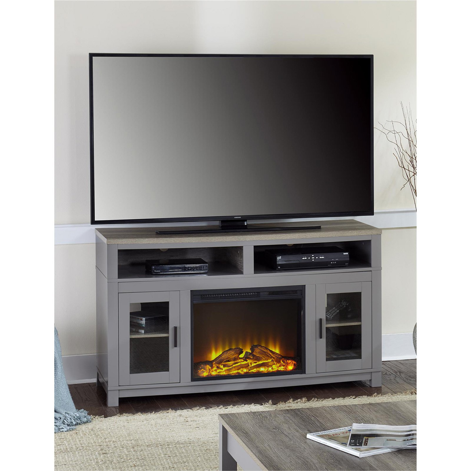 "Ameriwood Home Carver Fireplace Tv Stand Up To 60"", Multiple Colors by Ameriwood Home"