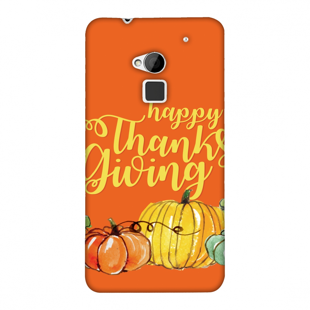 HTC One Max Case, Premium Handcrafted Designer Hard Shell Snap On Case Printed Back Cover with Screen Cleaning Kit for HTC One Max, Slim, Protective - Pumpkin Pattern