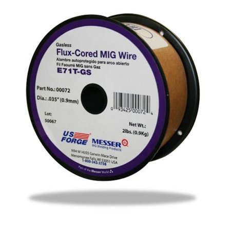 Us Forge 72 Welding Flux Cored Mig Wire   0 035  44  2 Lbs