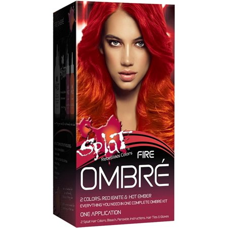 3 Pack - Splat Rebellious Colors Ombre Hair Coloring Complete Kit, Fire 1