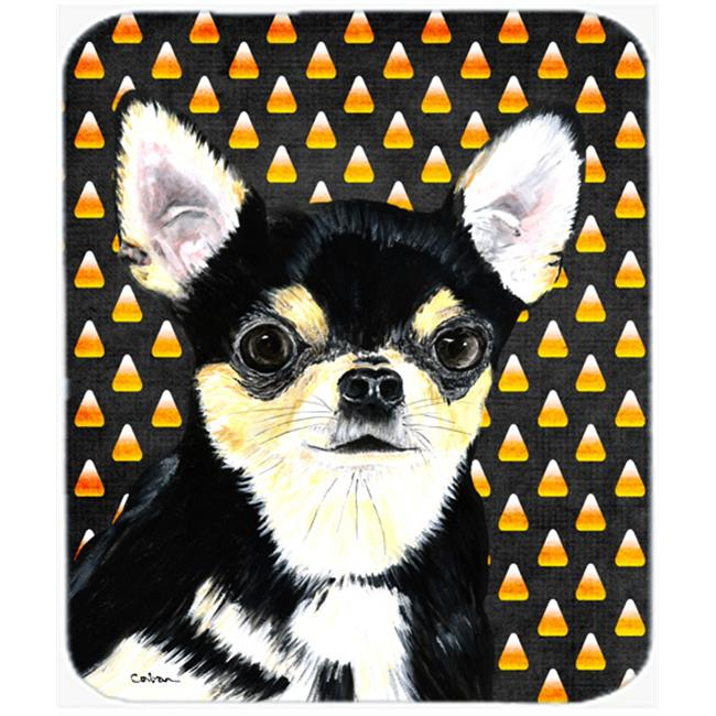 Chihuahua Candy Corn Halloween Portrait Mouse Pad, Hot Pad Or Trivet