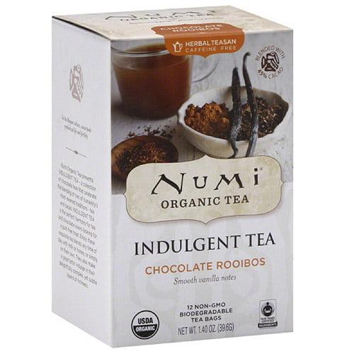 Numi Organic Tea Indulgent Chocolate Rooibos Tea Bags, 12 count, 1.4 oz (Pack of 6)