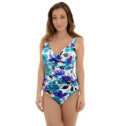 Miraclesuit Womens Floral Print Bathing Suit 1 Piece Miraclesuit Swimwear