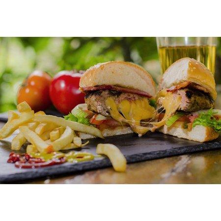 Laminated Poster Fast Food Food Meat Restaurant Cholesterol Burger Poster Print 24 X 36