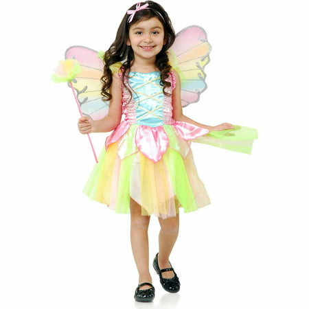 Rainbow Princess Fairy Child Halloween Costume