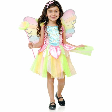 Rainbow Princess Fairy Child Halloween Costume (Halloween Costumes Mario Luigi Princess Peach)