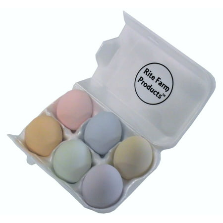 - 6 PK PASTEL CERAMIC DUMMY CHICKEN NESTING NEST FAKE TRAINING EGG HATCHING CRAFT