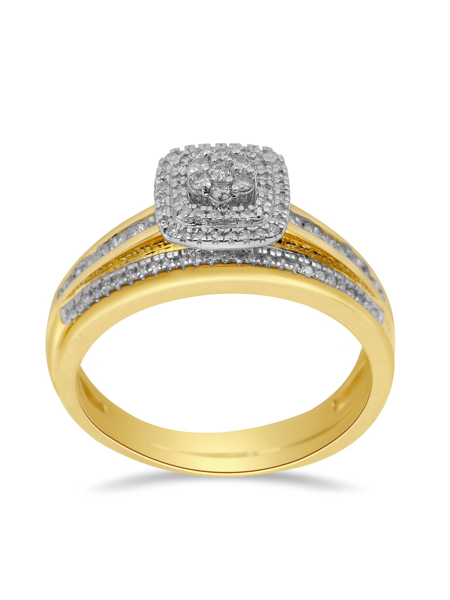 1/2ct. T.W. Diamond 10kt Yellow Gold Bridal Set