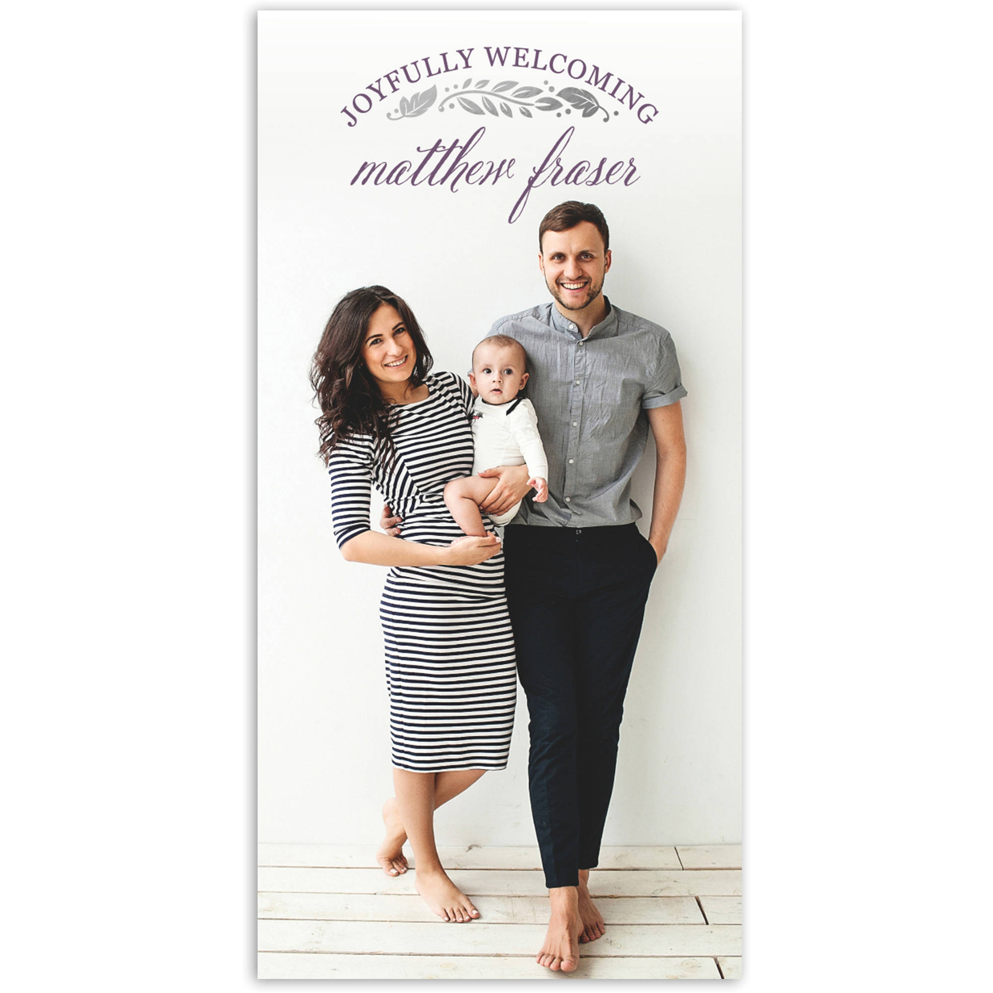 Joyfully Welcoming Baby Announcement