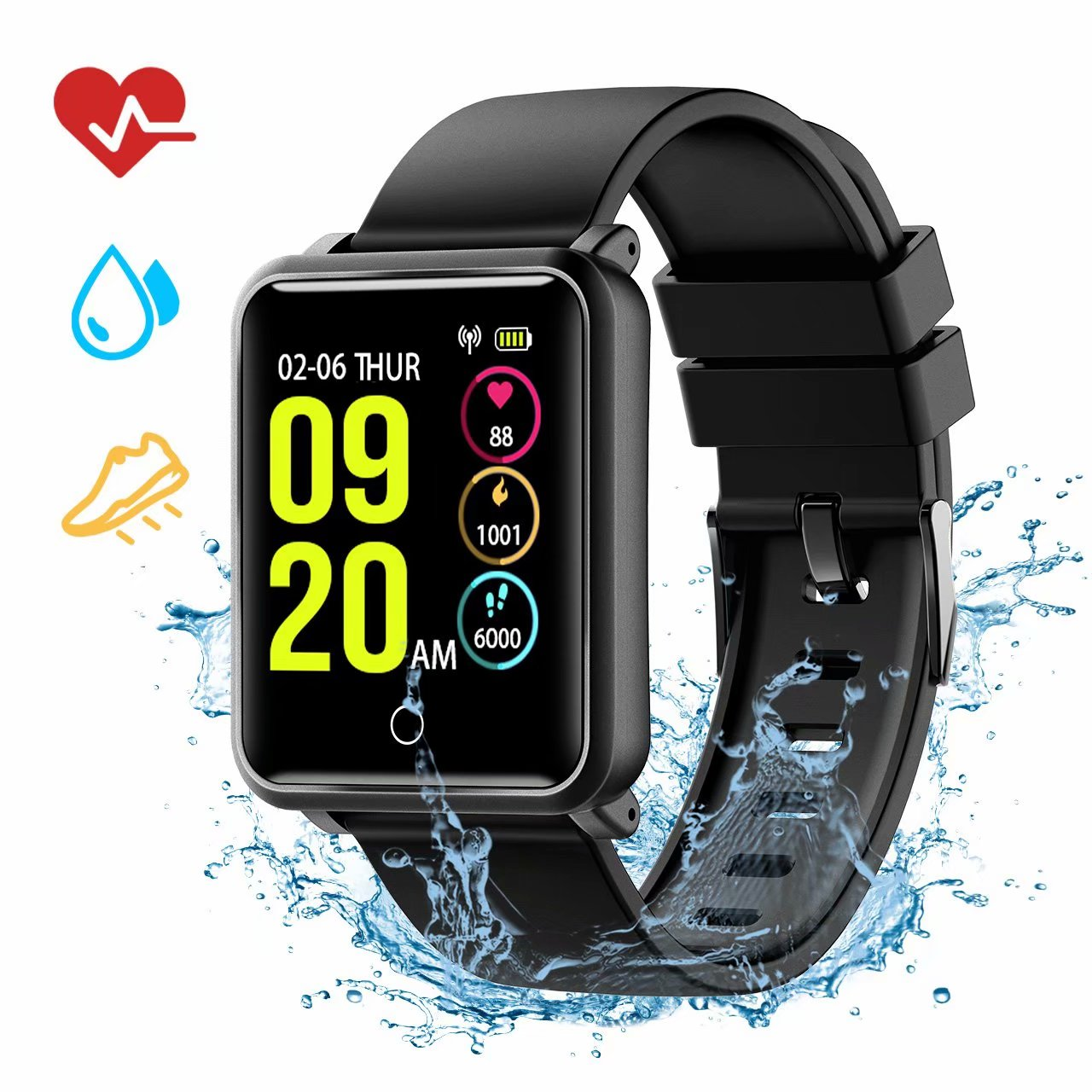 VicTsing Smart Watch with Sleep Monitor, Fitness Tracker, Heart Rate Monitor, IP68 Waterproof, Calorie Counter and Activity Tracker, Call and Message Reminder, Camera Control, Sedentary Alert