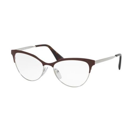 PRADA Eyeglasses PR 55SV UF61O1 Amaranth/ Silver 52MM ()