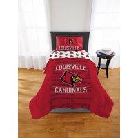 NCAA Louisville Cardinals Twin or Full Comforter, 1 Each